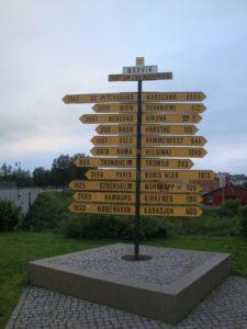 Met de nachttrein 1425 km afgelegd vanaf Stockholm. De laatste stad die we deze vakantie gaan bezoeken, Kopenhagen, is 1933 km van hier...